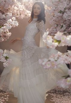Discover our new bridal collection, 'Fallen For You', featuring tiered ruffle wedding gowns, embellished wedding dresses and soft ombre ballerina length skirts. Sequin Midi Dress, Sequin Gown, Rental Wedding Dresses, Cheap Wedding Dress, Bridal Gowns, Wedding Gowns, Wedding Girl, Wedding Outfits, Wedding Ideas