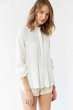 Sister Jane Winter Pleat Blouse - Urban Outfitters
