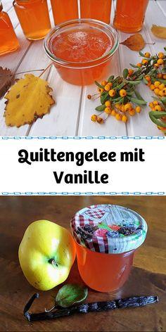 Quittengelee mit Vanille. Über 42 Bewertungen und für schmackhaft befunden.  Jetzt entdecken und ausprobieren! Food Portions, Recipies