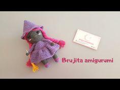 Como tejer una BRUJITA AMIGURUMI a CROCHET paso a paso - YouTube #amigurumipattern #crochetpattern ##patrongratis #freepattern #muñecaamigurumi #muñecacrochet #muñecatejida Halloween Crochet, Free Pattern, Witch, Crochet Patterns, Crochet Hats, Mini, Youtube, Amigurumi, Bruges