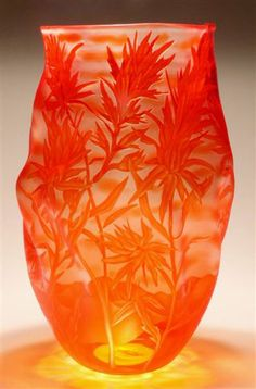 """Sand Carved Vessel """"Paintbrush"""" by Mary Mullaney"""