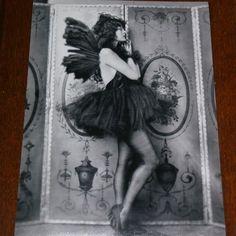 Black and white Gothic Fairy, A4 matt print £7.00
