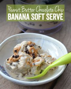Peanut Butter Chocolate Chip Banana Soft Serve