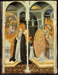 The Miraculous CommunioArtist: Giovanni di Paolo (Giovanni di Paolo di Grazia) (Italian, Siena 1398–1482 Siena) Medium: Tempera and gold on woodn of Saint Catherine of Siena -