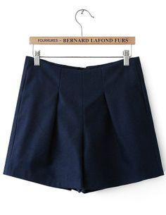 Navy High Waist Zipper Slim Shorts Dress Me Up, Cheer Skirts, High Waist, Naked, Casual Shorts, Short Dresses, Slim, Zipper, Spring