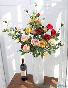 1 PCS Beautiful Fake Artificial Flower Long Stem Silk Rose Wedding Home Decoration Gift 4 Colors
