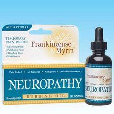 Frankincense and Myrrh Neuropathy Rubbing Oil - worth looking into...