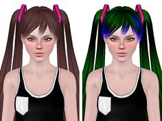 Cyclo Tripz Hatsune Miku Pigtails retextured by Neiuro for Sims 3 - Sims Hairs - http://simshairs.com/cyclo-tripz-hatsune-miku-pigtails-retextured-by-neiuro/