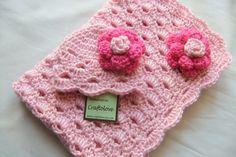 Baby Girl Shower Gift set  Baby Girl blanket  by craftolove
