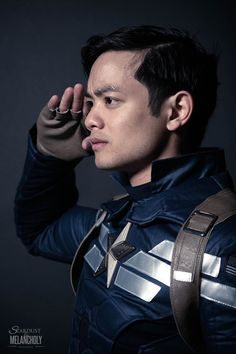Osric Chau as Captain America Osric Chau, Team Cap, Fantasy Films, Melancholy, Superwholock, Twitter, Apocalypse, Captain America, Supernatural