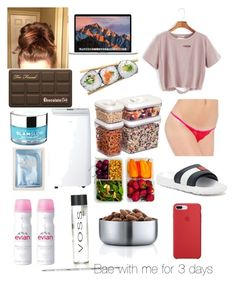 """""""Heat wave (currently)"""" by xanarchyqueen on Polyvore featuring Prestige Biatta, Too Faced Cosmetics, GlamGlow, Lapcos, Swan, Tommy Hilfiger, Honey-Can-Do, Evian and blomus"""