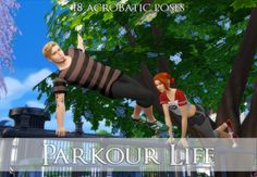 """quiddity-jones: """" Parkour Life 18 Acrobatic Poses So and and I have put our heads together for another action-packed pose set! You can see some of these poses in Issue Sims 4 Couple Poses, Couple Posing, Heads Together, Parkour, Sims Cc, Action, Songs, Couples, Life"""