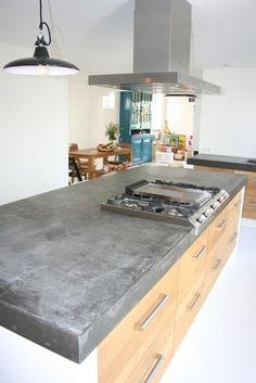 Mooi betonnen keukenblad