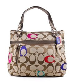 Coach Poppy Embroidered Sig C Glam Tote Shoulder « Clothing Impulse