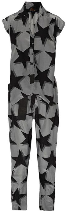 Vivienne Westwood Anglomania Discovery printed crepe de chine jumpsuit on shopstyle.com