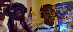 Twins boy an dog LMAO