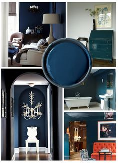 In love with this color!!! Hague Blue, by Farrow & Ball