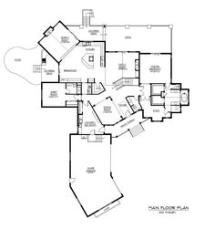 Kitchen and Hearth Room definitely more of what I want - Floor Plan First Story for these Luxury House Plans.