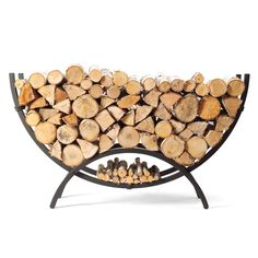 living room firewood storage