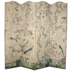 18th century Chinese handpainted wallpaper on four panel screen#Repin By:Pinterest++ for iPad#