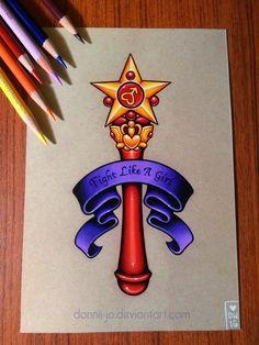 Sailor Mars Star Wand - Commission by dannii-jo on DeviantArt
