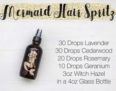 mermaid hair essential oil spray