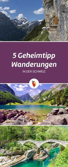 Eine Sammlung an Routen zu Geheimtipp-Wanderungen in der Schweiz - alle Infos via Urlaubspiraten.de