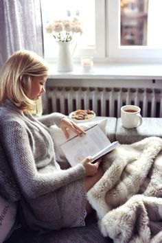 The perfect lazy day with coffee and a good book.