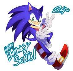 Sonic 24th by ss2sonic