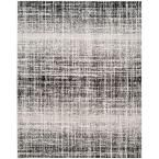 Adirondack Ivory/Silver 5 ft. 1 in. x 7 ft. 6 in. Area Rug, Ivory/Black