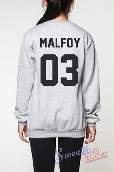 Draco Malfoy Harry Potter Sweatshirt Deathly Hallows Movie Shirts Sweater Women Tee T-Shirt Unisex Jumper Grey Size S M L