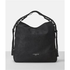 Riverdale Handcut Python Leather Hobo ($479) ❤ liked on Polyvore featuring bags, handbags, shoulder bags, oil black, leather hobo handbags, hobo shoulder bags, leather hobo purses, leather handbags and man bag