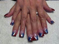4th of july solar nails - Yahoo!