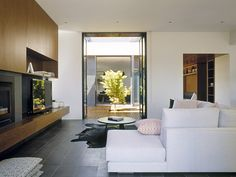 Bower Architecture - Interior living and timber joinery at Caulfield House