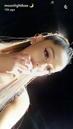 """::Ariana Grande::""""hey! I'm Ariana, but most people just call me Ari""""I smile""""I'm 17 and single. I'm famous on Snapchat and instagram. I'm a singer, actress, and model. My family is pretty rich and famous. I love traveling, shopping, touring, and meeting fans. That's it about me, come say hi?""""[@moonlightbae and @arianagrande]"""