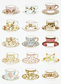 Another V print - Tea and Breakfast Services