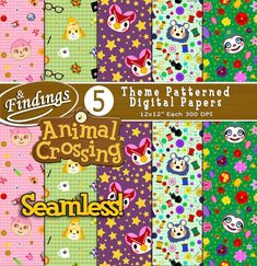 Your place to buy and sell all things handmade Animal Crossing Qr Codes Clothes, Animal Crossing Villagers, Game Themes, Party Themes, Theme Parties, Party Ideas, Isabelle, Digital Scrapbook Paper, Classroom Themes