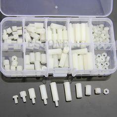 M3 Nylon Hex Spacers Screw Nut Assortment Kit Stand off Plastic Accessories Set