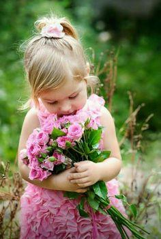 Embrace pink roses little girl 51444 - Children's Album - Figure