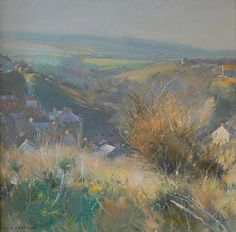 Moorland in Winter Staithes - Oil 12x12