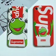 Luminous Supreme Case for iphone 7 7plus 6 6plus5.5 Crazy Frog Matte Phone Cover Coque Fundas Capas tide brand phone cases Cover