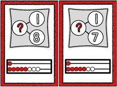 Addition Number Bond and Rekenrek Basic Fact Cards tpt