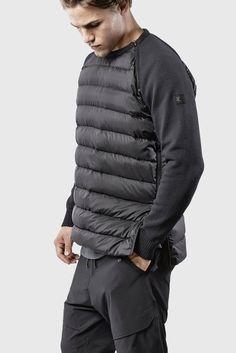 Утепленные рубашки и пухово-кожаные куртки.