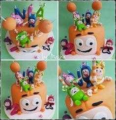 Odd bods cake 4th Birthday Parties, 3rd Birthday, Baby Boy Birthday Cake, Cool Cake Designs, Girl Cakes, Themed Cakes, Birthdays, Ideas, Baby Tips