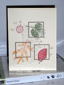 Simply Sara Stampin': French Foliage Lansing Regional Card Swap Winner!!!