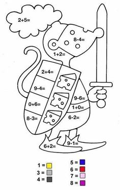 Math Coloring Pages Addition And Subtraction from School Coloring Pages category. Find out more nice pictures to color for your kids School Coloring Pages, Coloring Pages For Kids, Coloring Sheets, 1st Grade Math, Kindergarten Activities, Preschool, Printable Math Games, Math Pages, Color By Numbers