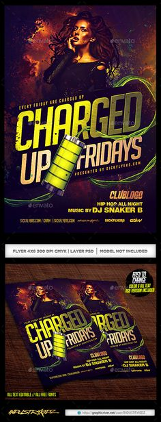 Charged Up Flyer Template #design Download: http://graphicriver.net/item/charged-up-flyer/12449732?ref=ksioks