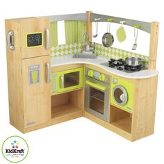 KidKraft Limited Edition Natural Lime Corner Kitchen 53274