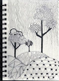 rain zentangle - Google Search