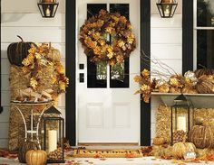 Outdoor Fall Decorations & Fall Porch Decorating | Pottery Barn...I think I want half of this...but it is gorgeous!